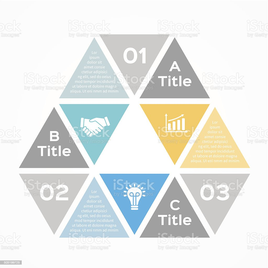 Modern vector infographic for business project royalty-free stock vector art