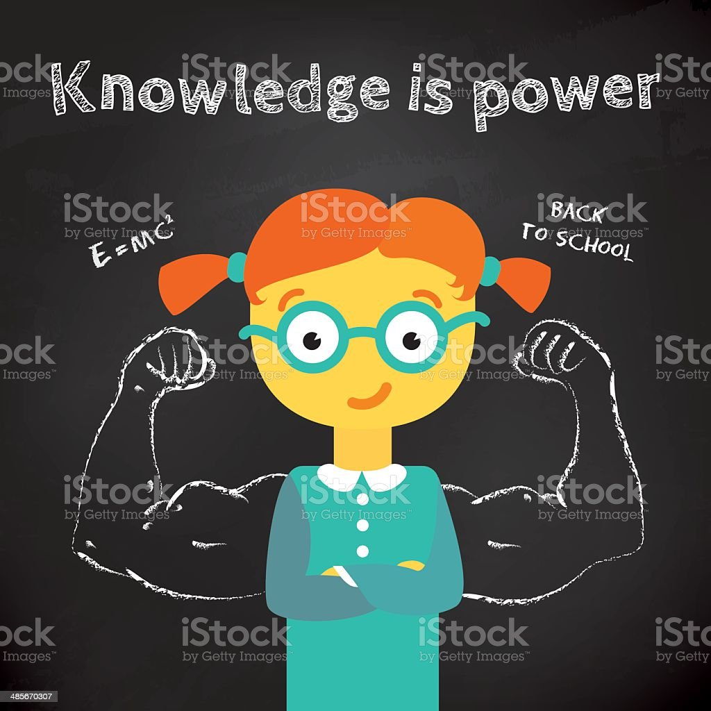 Modern vector stylish illustration about power of knowledge. vector art illustration