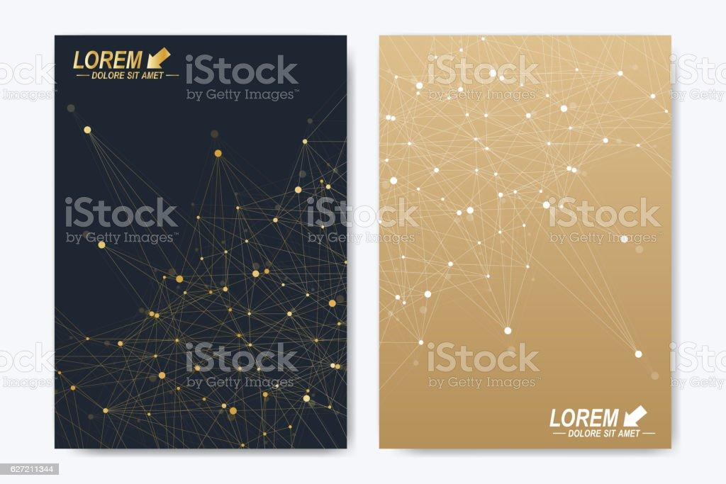 Modern vector template for brochure, Leaflet, flyer, advert, cover magazine vector art illustration
