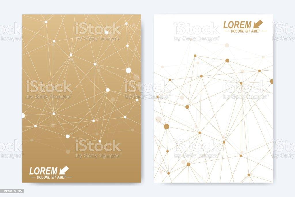 Modern vector template for brochure, Leaflet, flyer, advert, cover, catalog vector art illustration