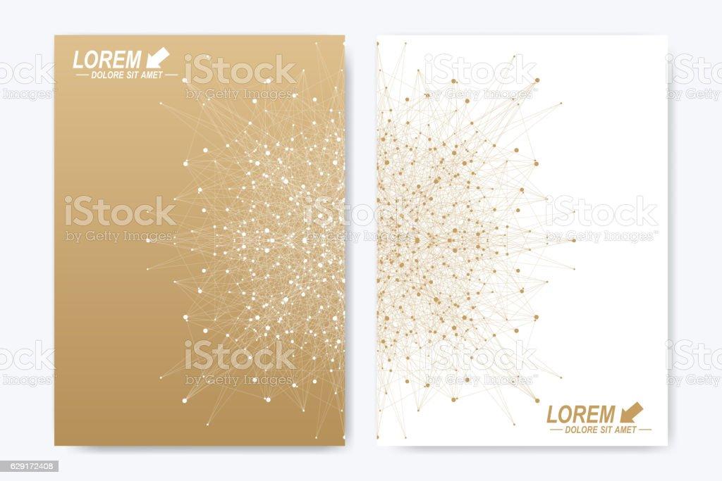 Modern vector template for brochure, leaflet, flyer, cover, magazine or vector art illustration