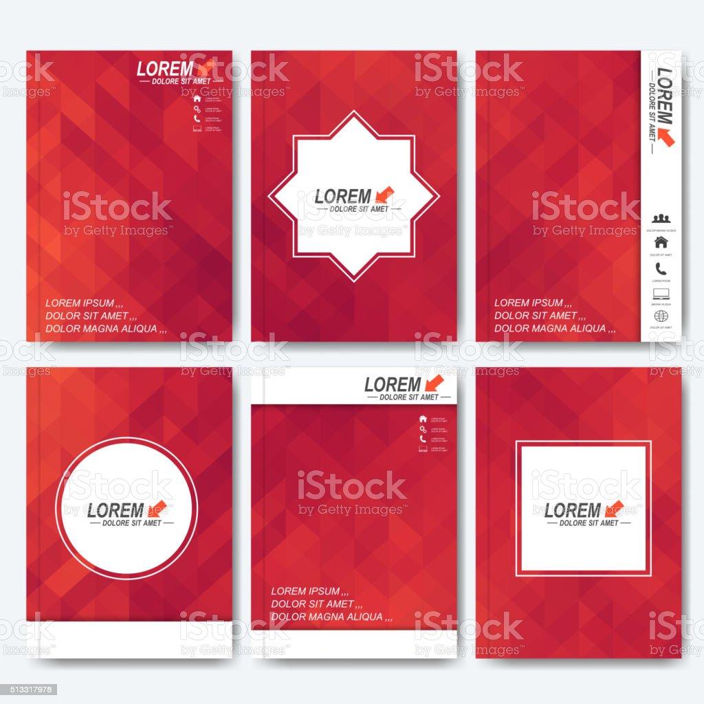 Modern vector templates for brochure, flyer, cover magazine or report vector art illustration