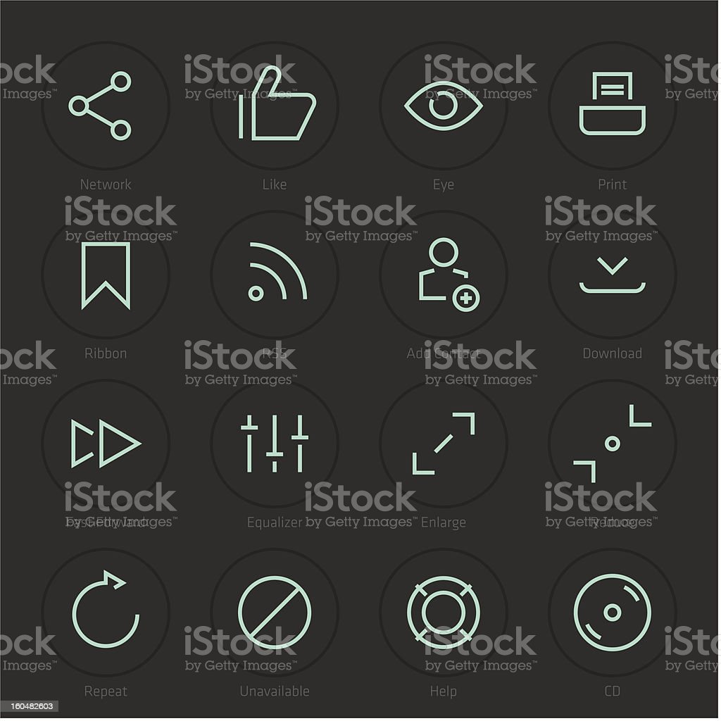 Modern Web Icons royalty-free stock vector art