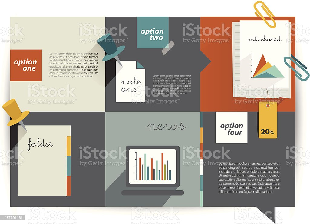 Modern website flat  template. vector art illustration