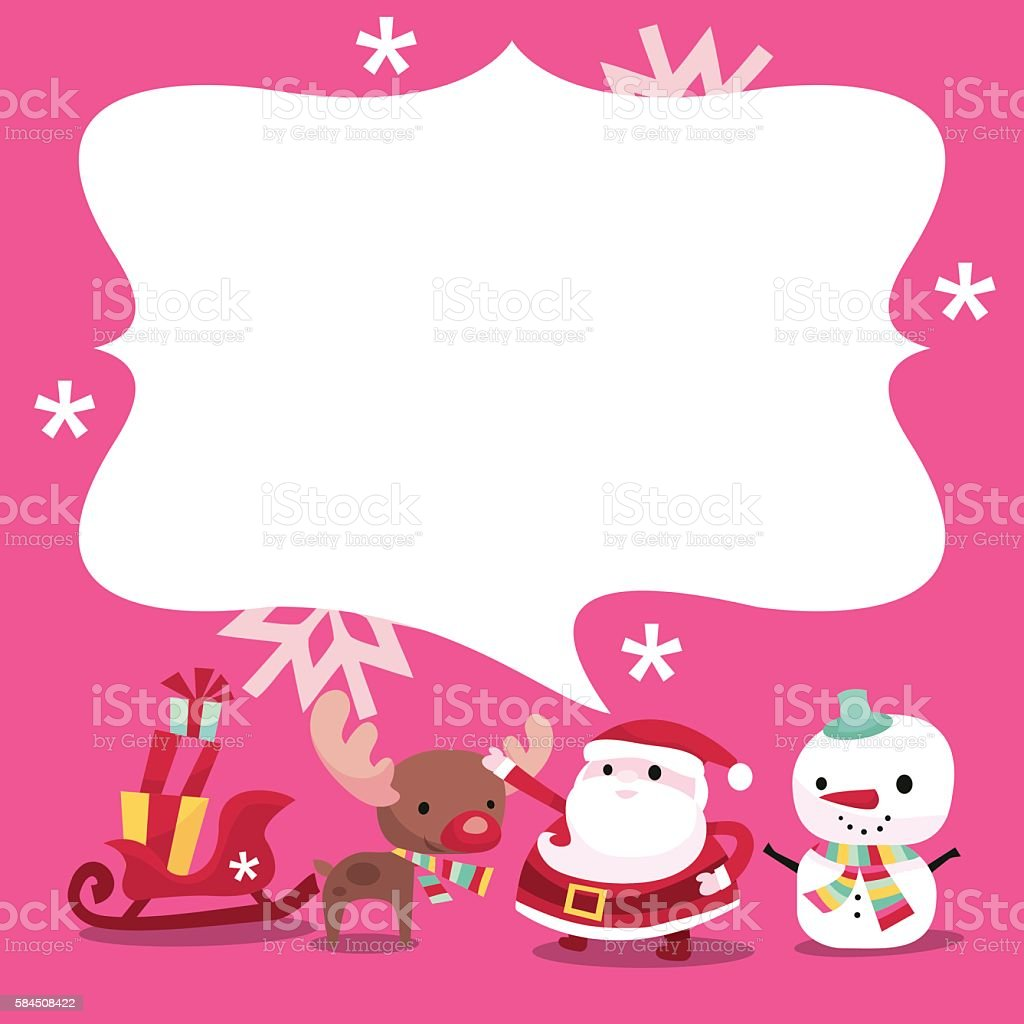 Modern Whimsical Christmas Message Copy Space Vektor Illustration ...