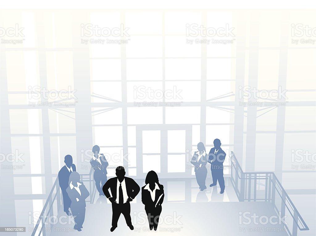 Modern white collar office royalty-free stock vector art