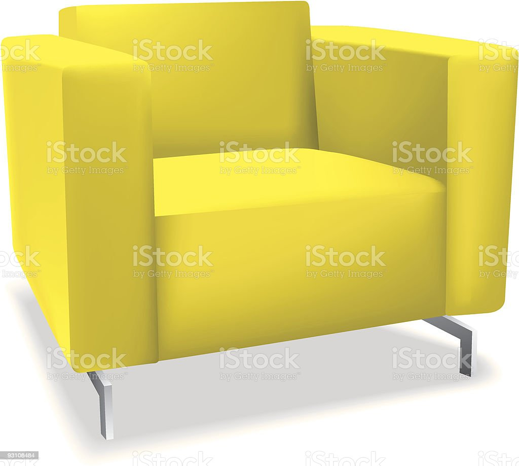 modern yellow chair royalty-free stock vector art