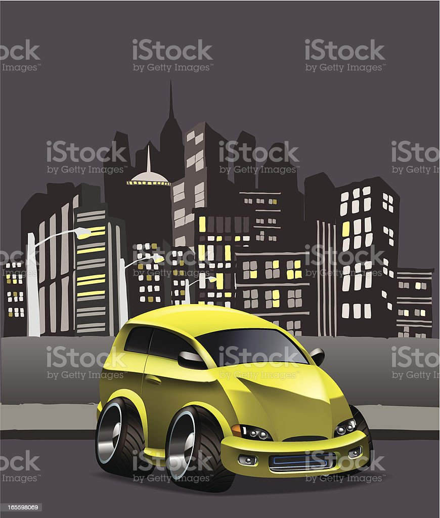 modified hatchback royalty-free stock vector art