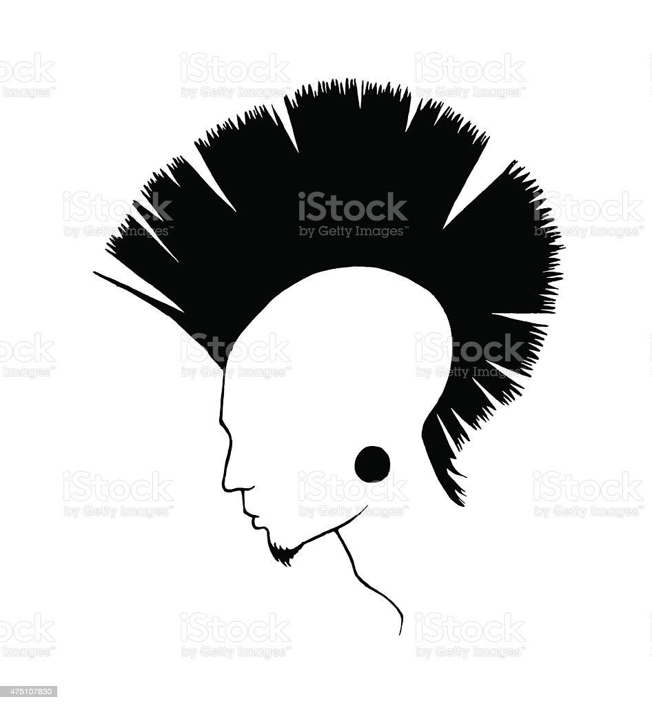 Mohawk vector art illustration