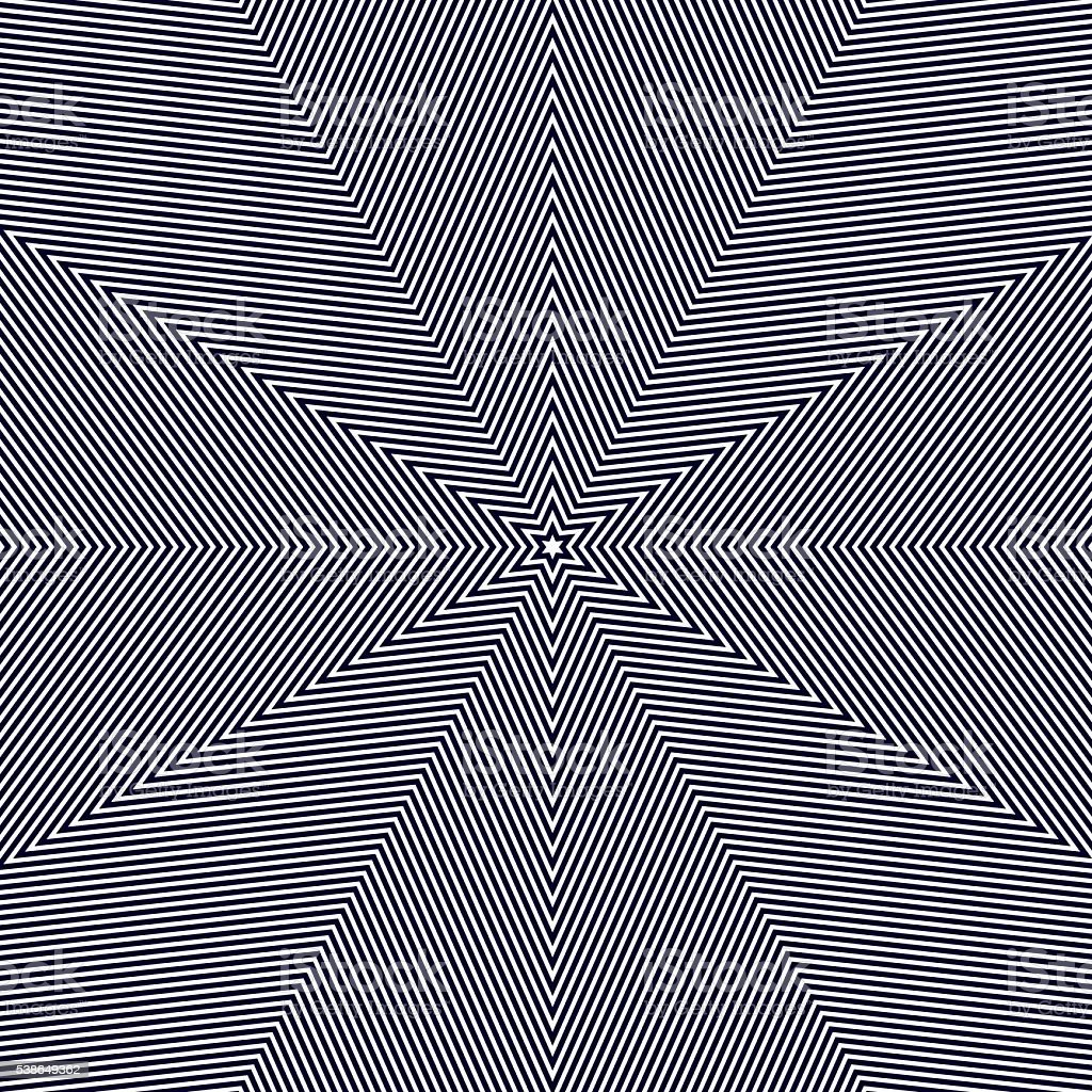 Moire pattern, op art vector background. Hypnotic backdrop vector art illustration