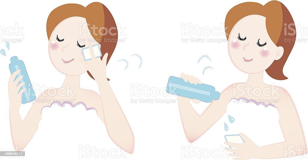 moisture skin care vector art illustration