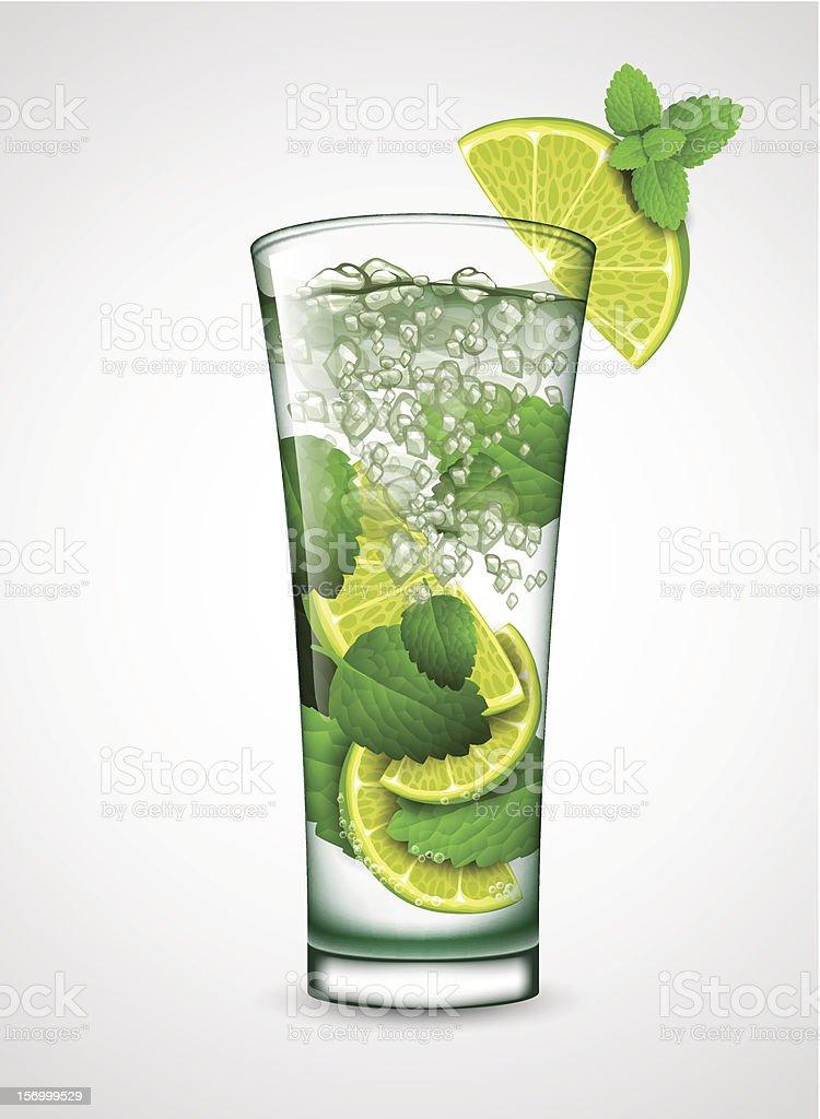 mojito cocktail royalty-free stock vector art