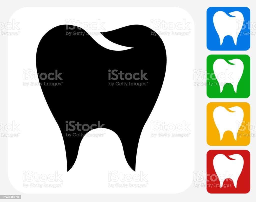 Molar Icon Flat Graphic Design vector art illustration