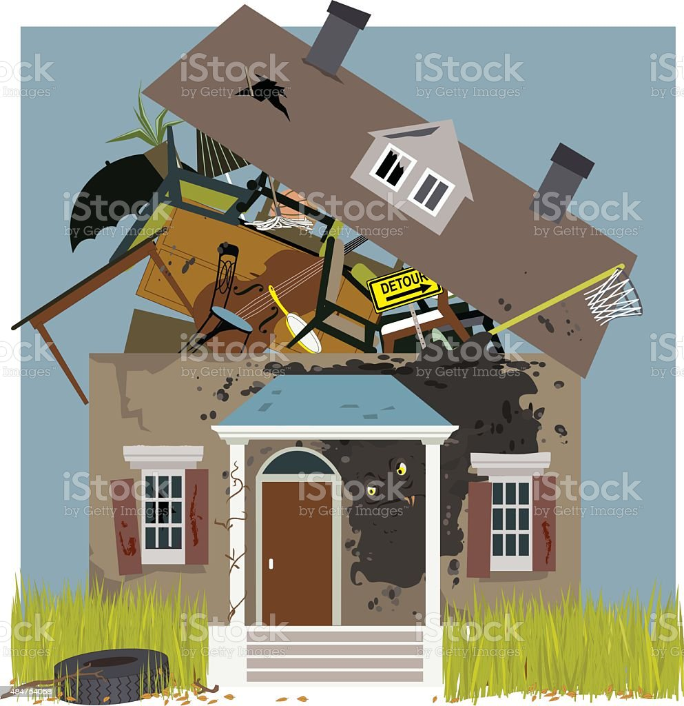 Mold infestation vector art illustration
