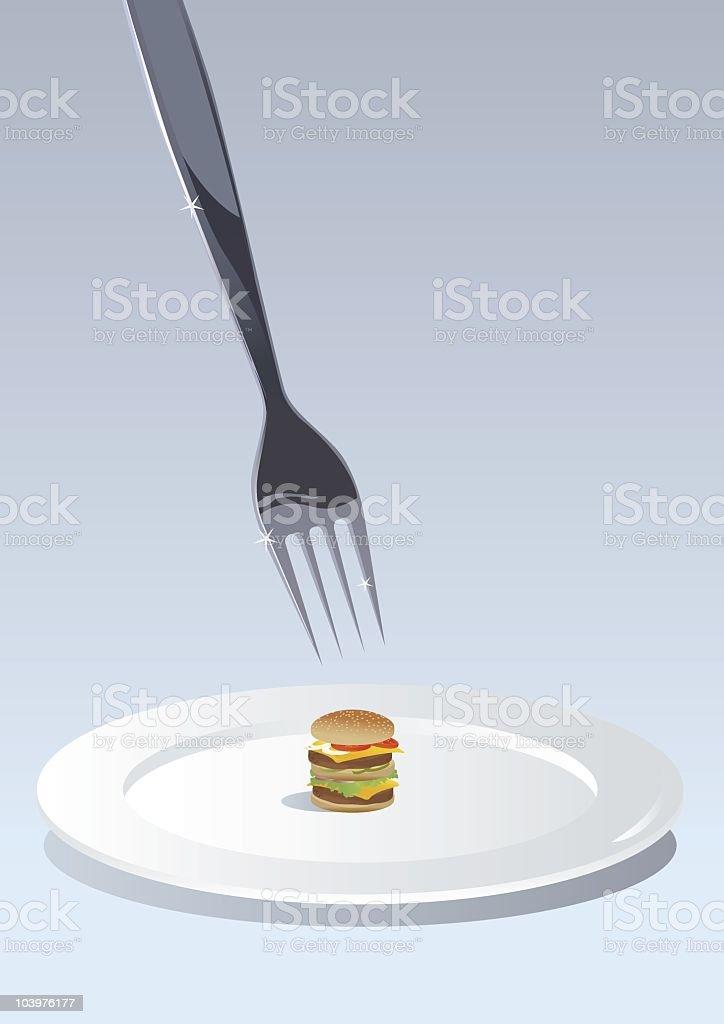 Molecular gastronomy vector art illustration