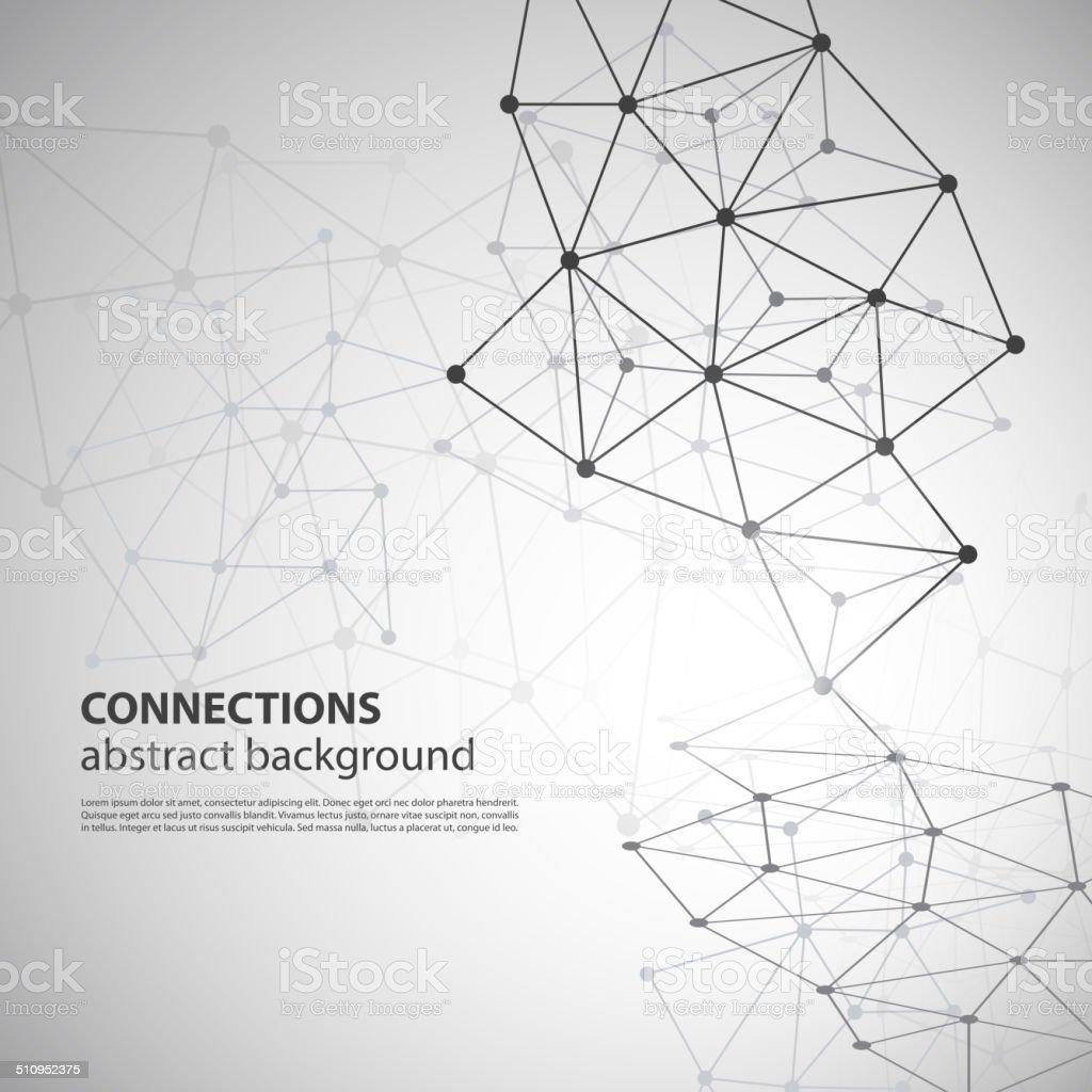 Molecular, Global or Business Network Connections Concept Design vector art illustration