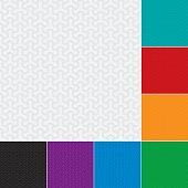 Molecular pattern. Multicolor Set of Neutral geometric seamless patterns