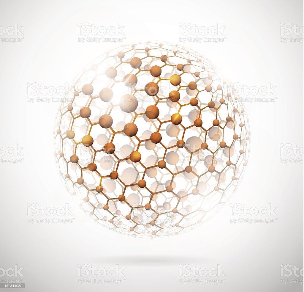 Molecular sphere royalty-free stock vector art