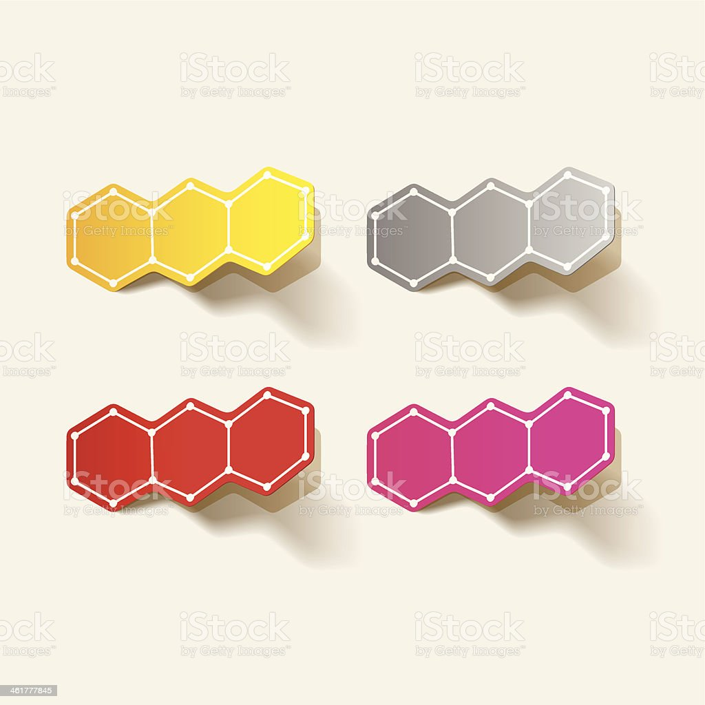 molecular structure, sticker royalty-free stock vector art
