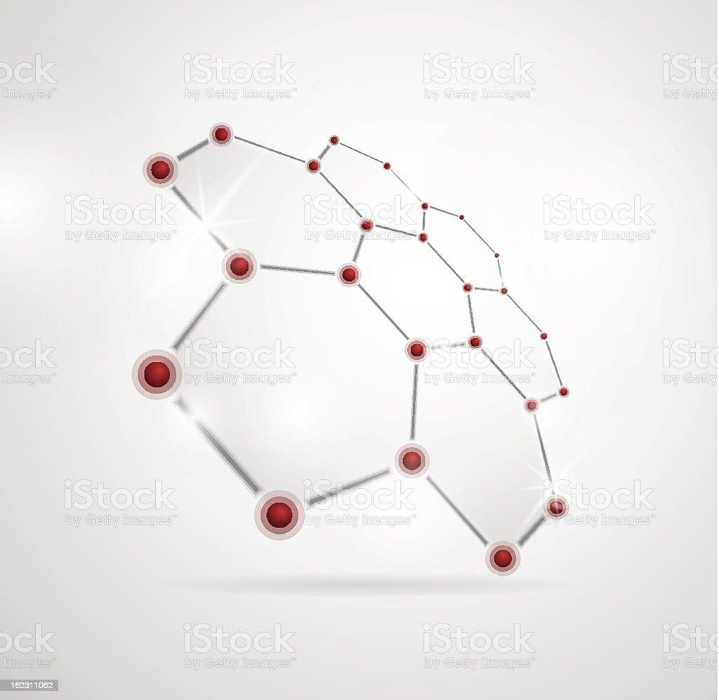 Molecular structure royalty-free stock vector art