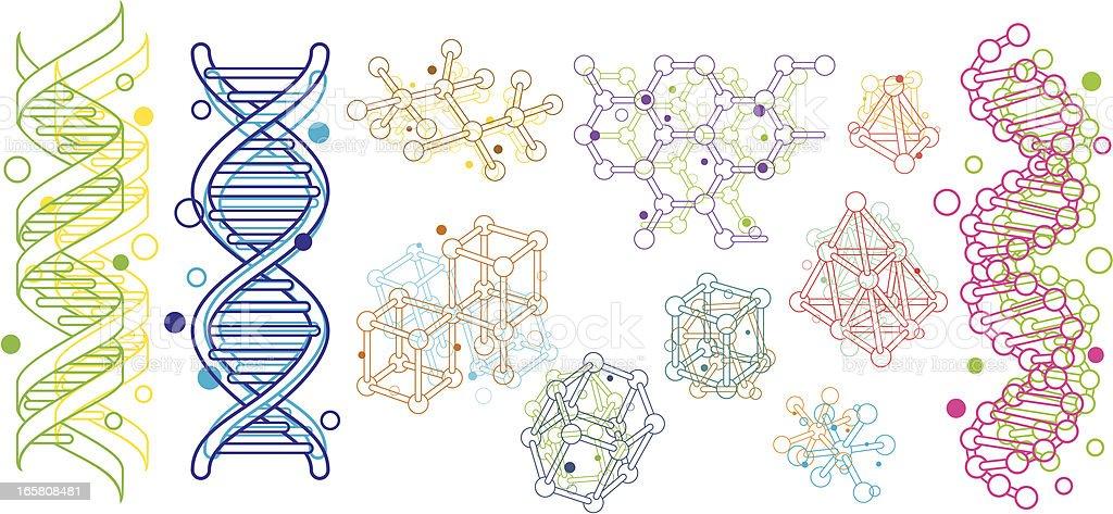 Molecular Structure vector art illustration