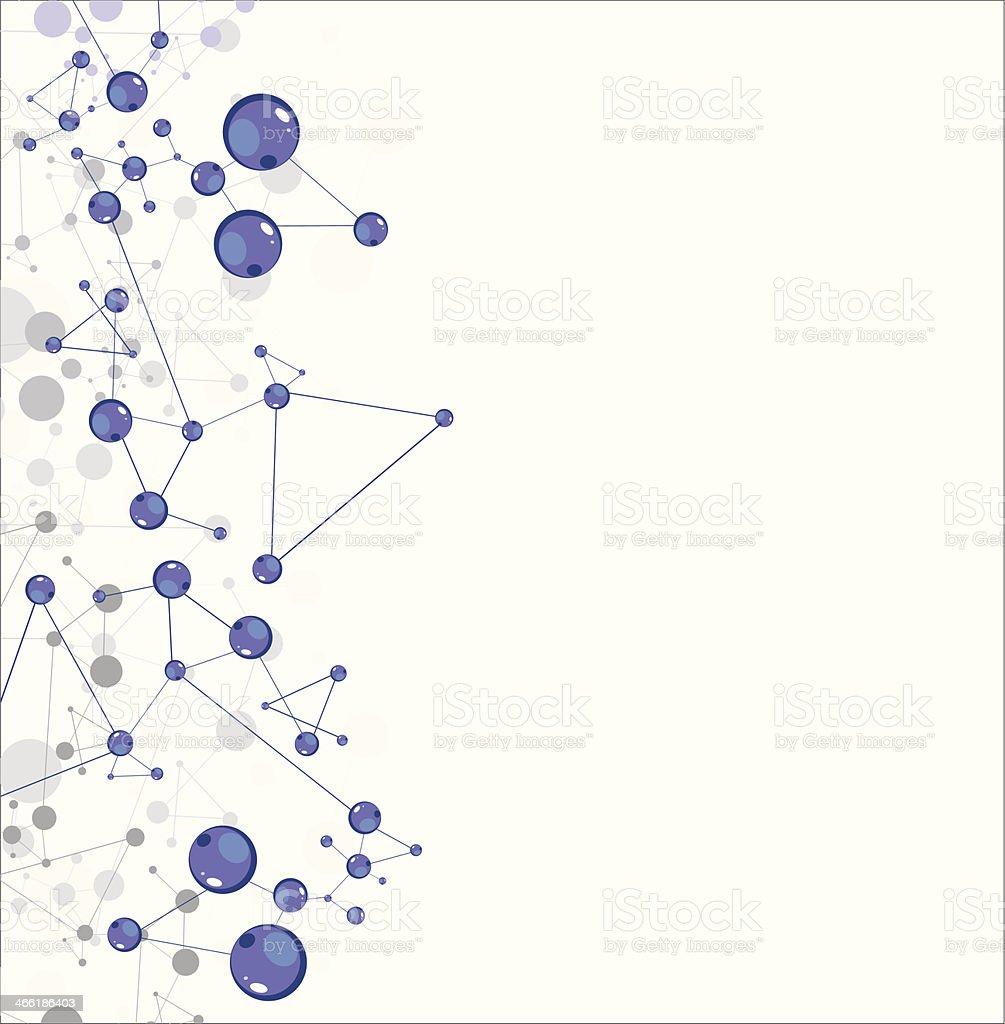 Molecular structures vector art illustration