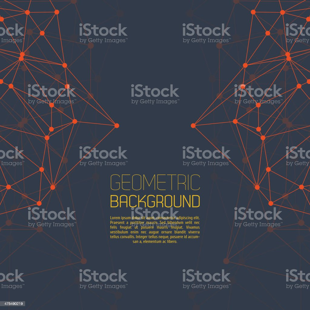 Molecule And Communication Background vector art illustration