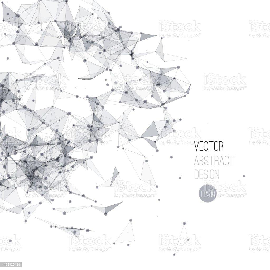 Molecule And Communication Background vector art illustration