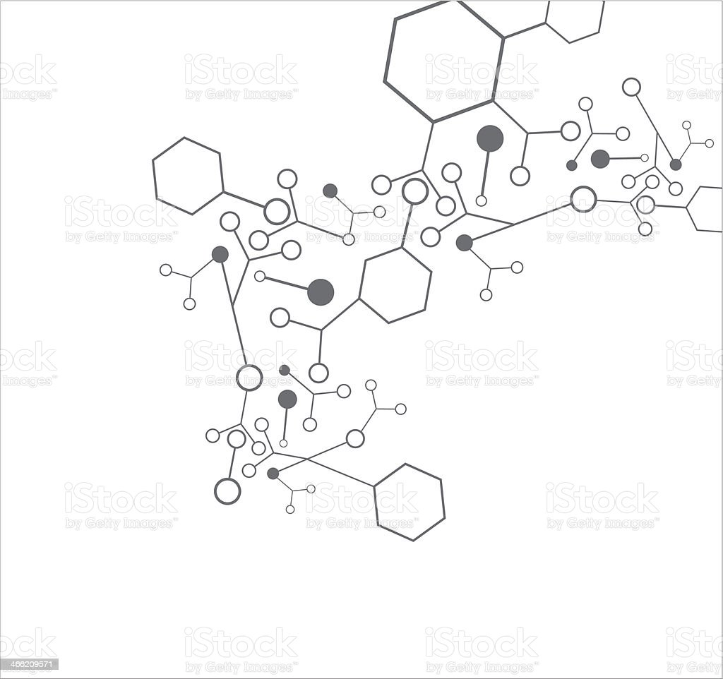 Molecule background vector art illustration