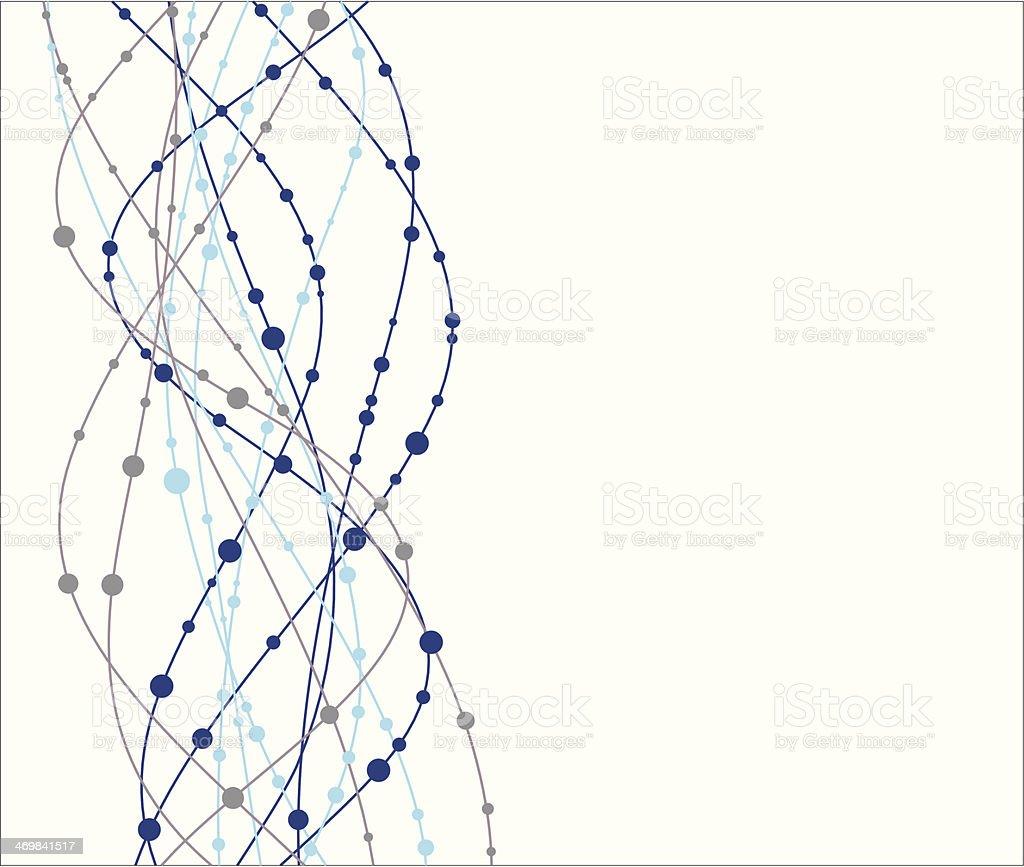 Molecule background vector art illustration