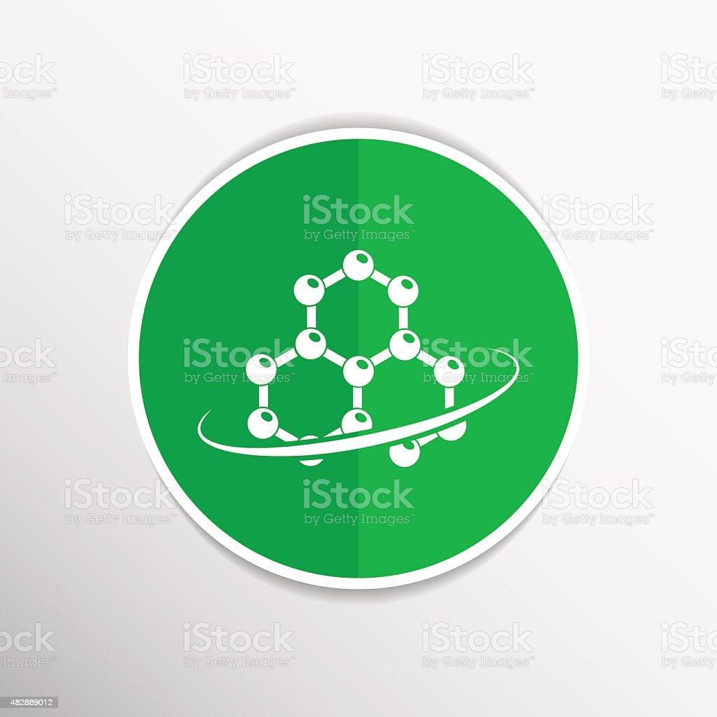 Molecule icon atom chemistry vector symbol element vector art illustration