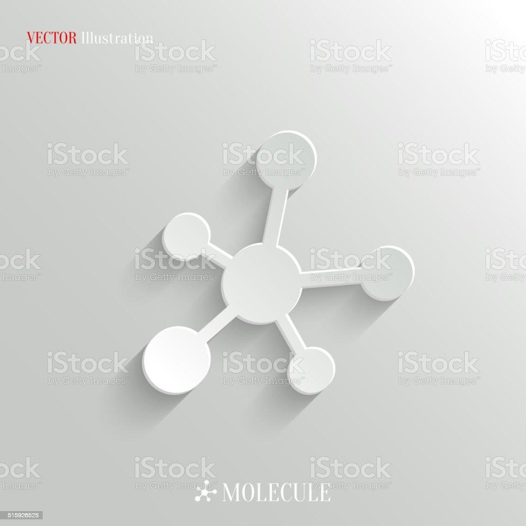 Molecule icon - vector education background vector art illustration