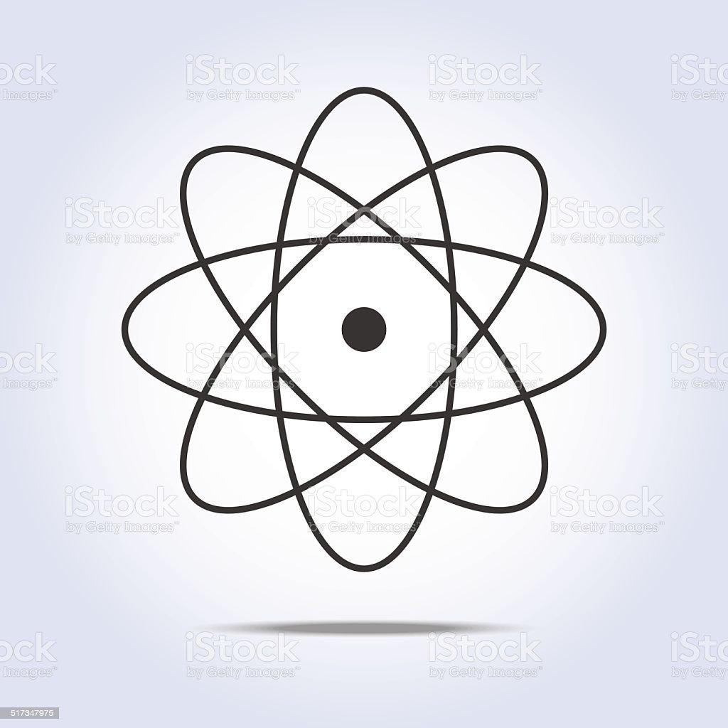 Molecule Icon. Vector illustration vector art illustration