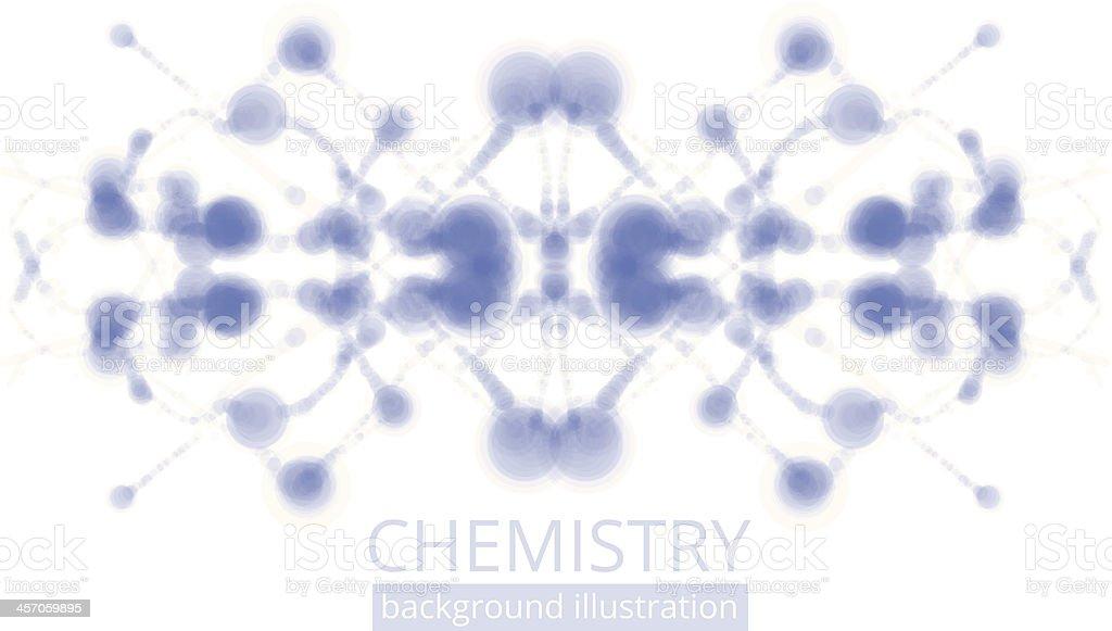 Molecule illustration royalty-free stock vector art