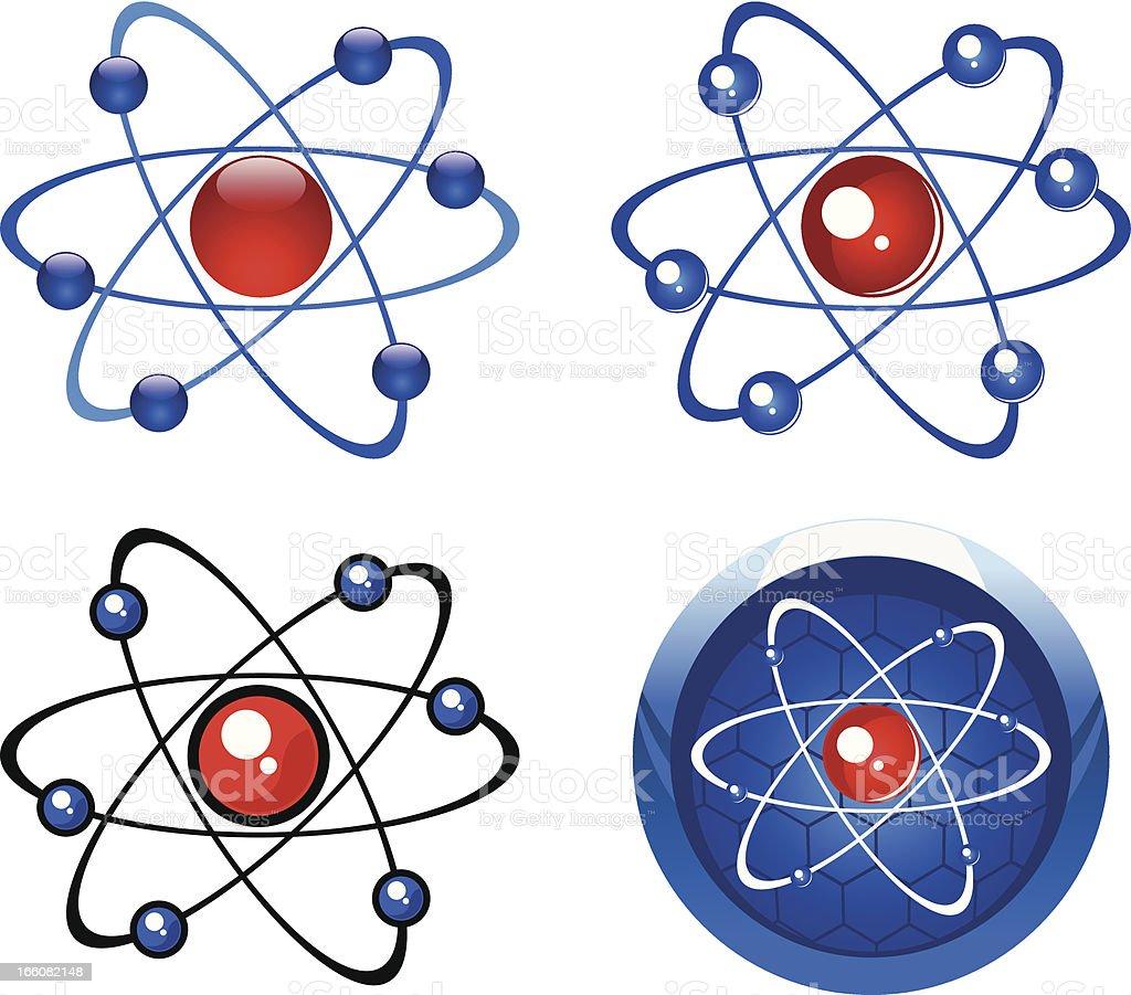 Molecule simbols royalty-free stock vector art