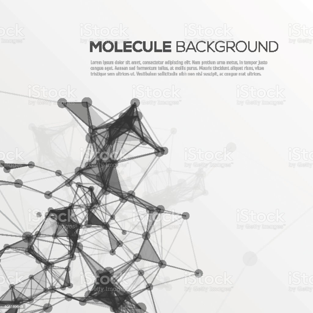 Molecule structure vector background. vector art illustration