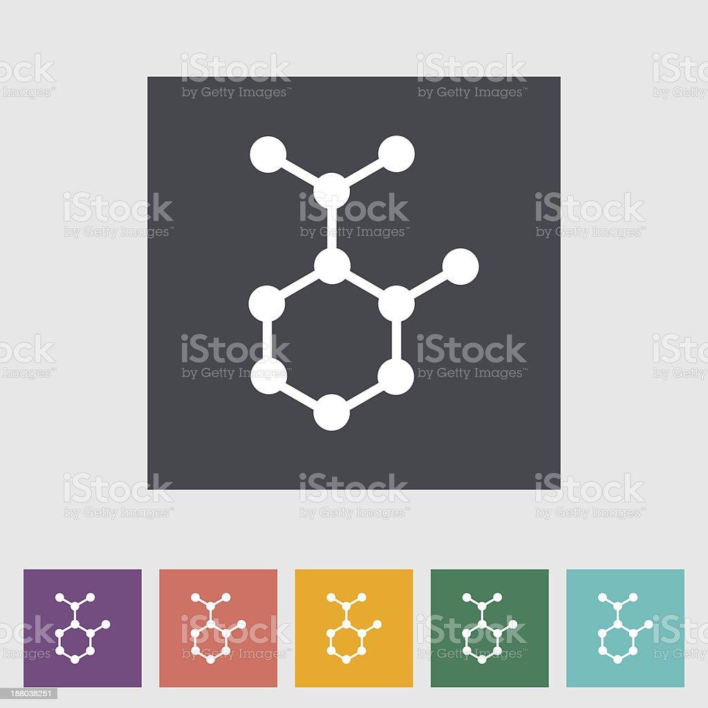 Molecule royalty-free stock vector art