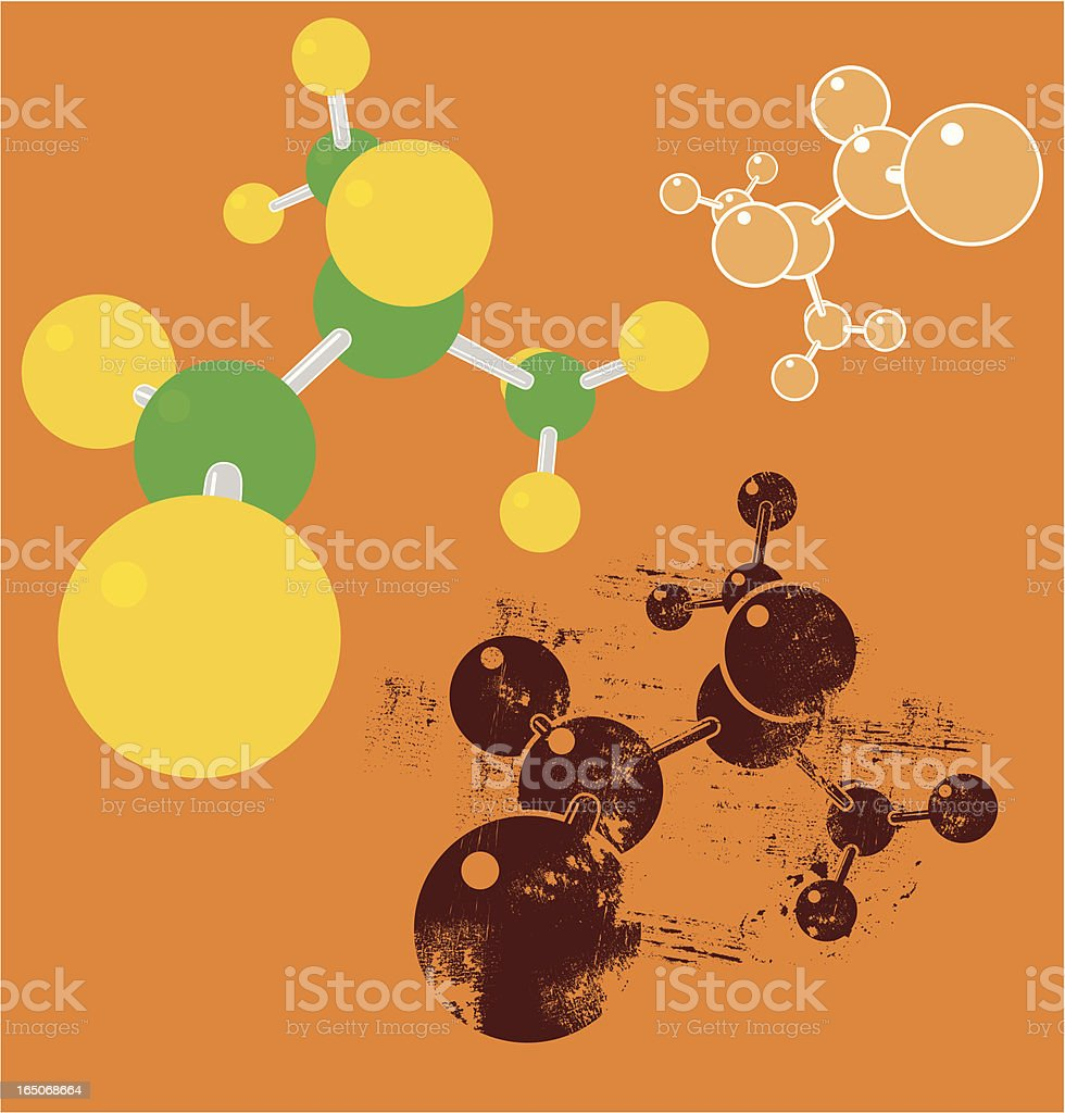 Molecule vector illustration collection royalty-free stock vector art