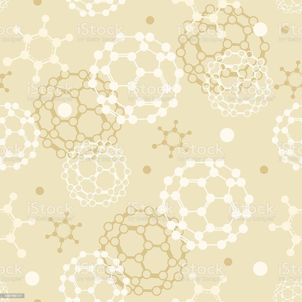 Molecules seamless pattern royalty-free stock vector art