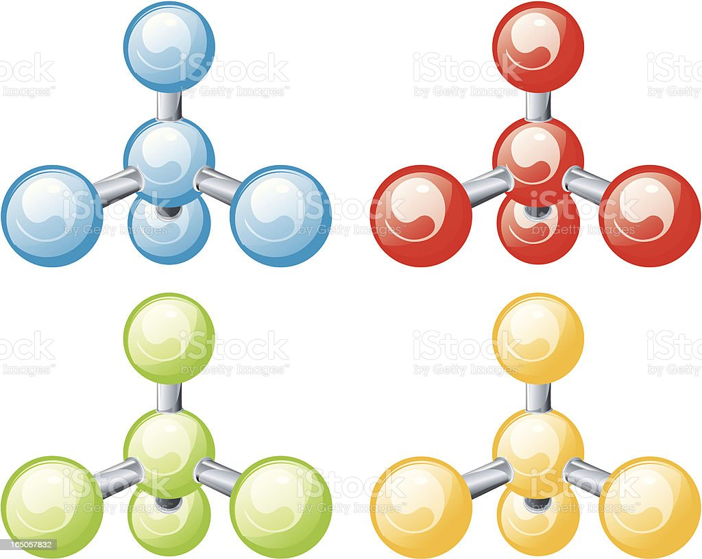 molecules royalty-free stock vector art