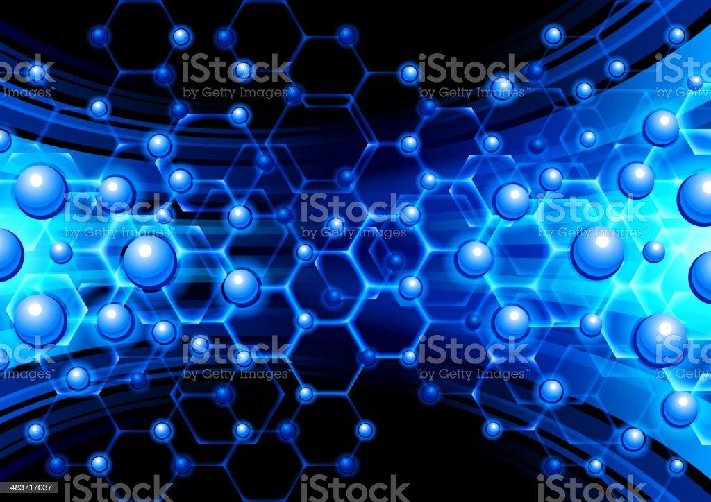 Molecules royalty-free stock vector art