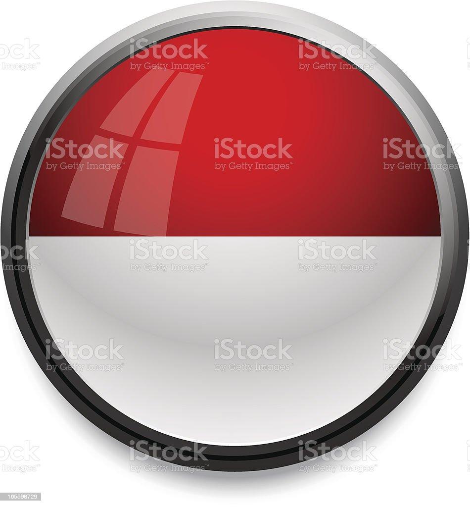 Monaco - flag icon royalty-free stock vector art