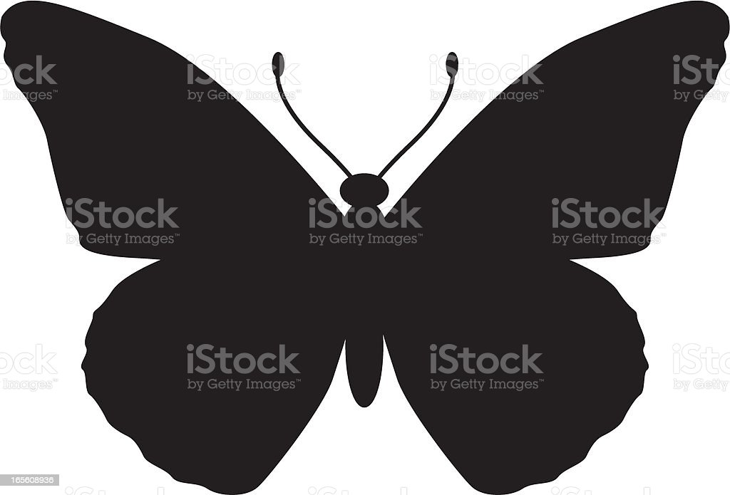 Monarch Butterfly Silhouette vector art illustration