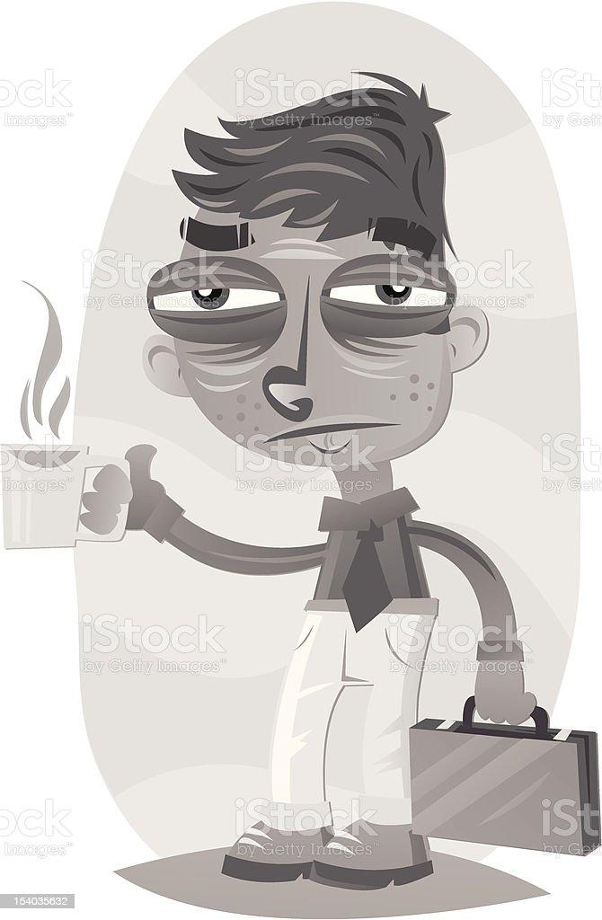 Monday mornings vector art illustration