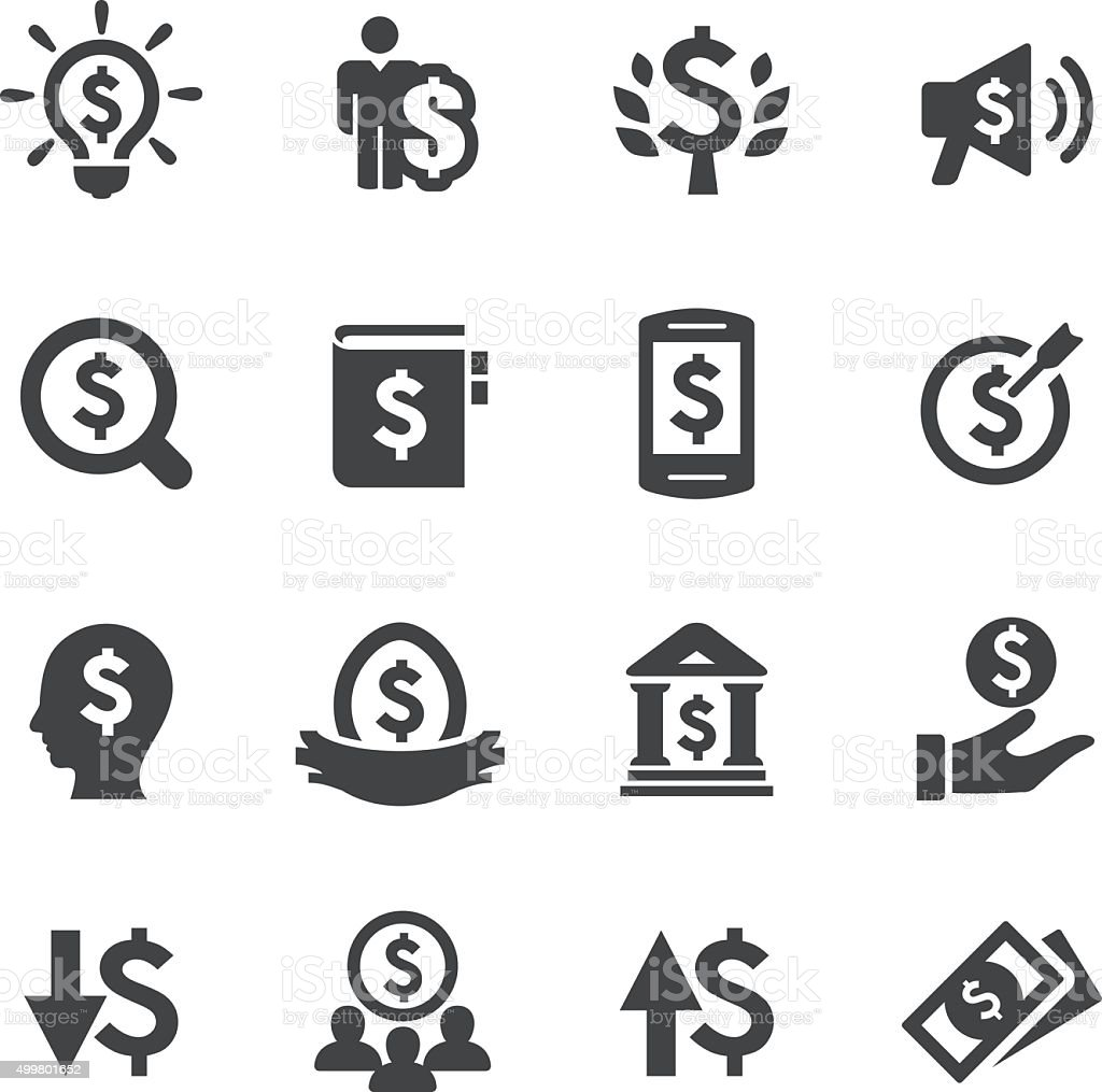 Money and Finance  Icons - Acme Series vector art illustration