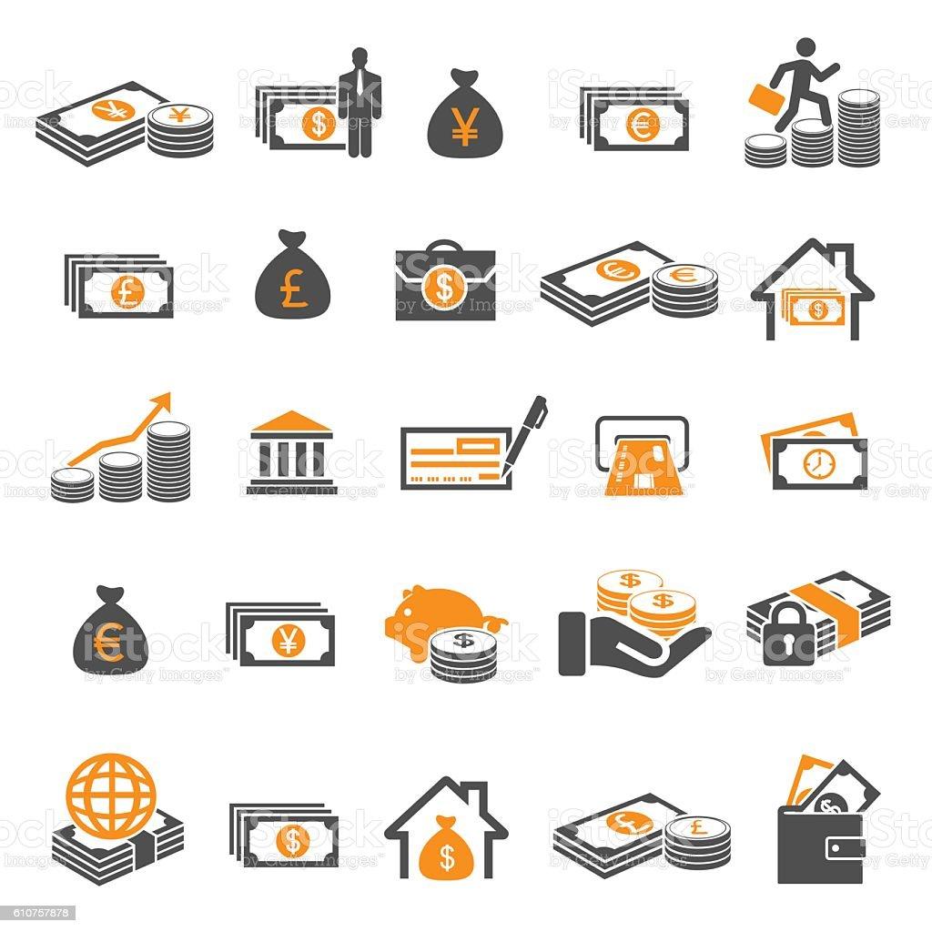 money and finance vector art illustration
