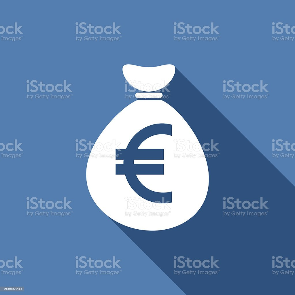 money bag euro icon vector art illustration
