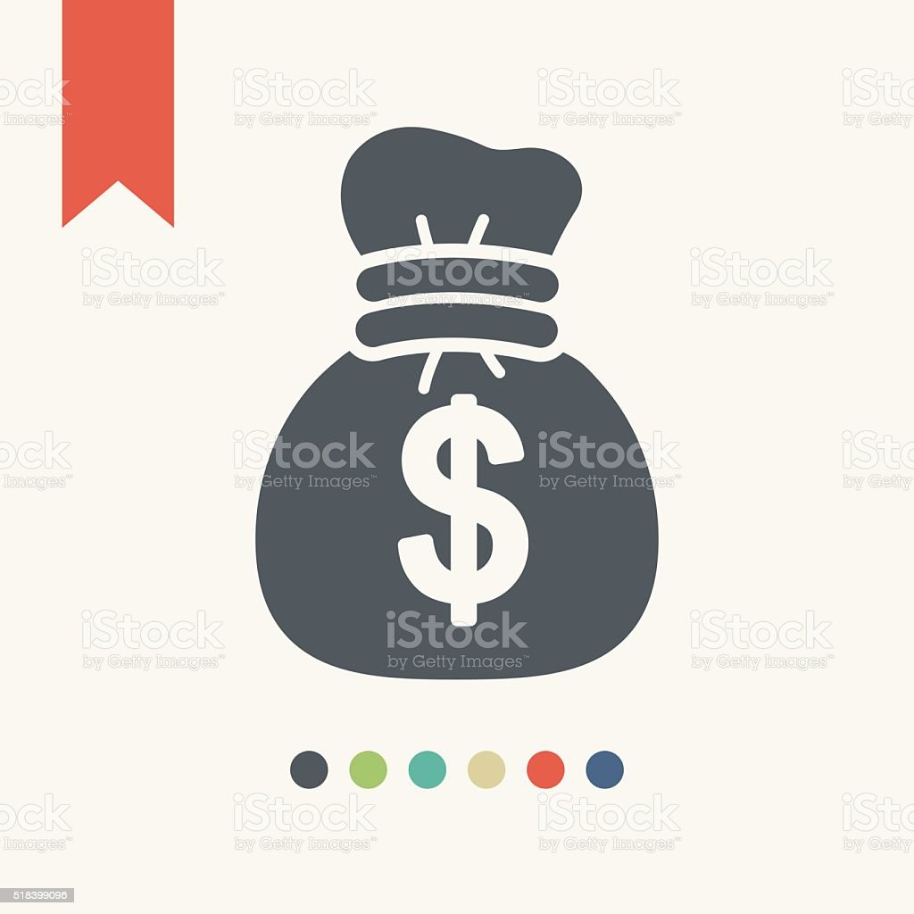money bag icon vector art illustration