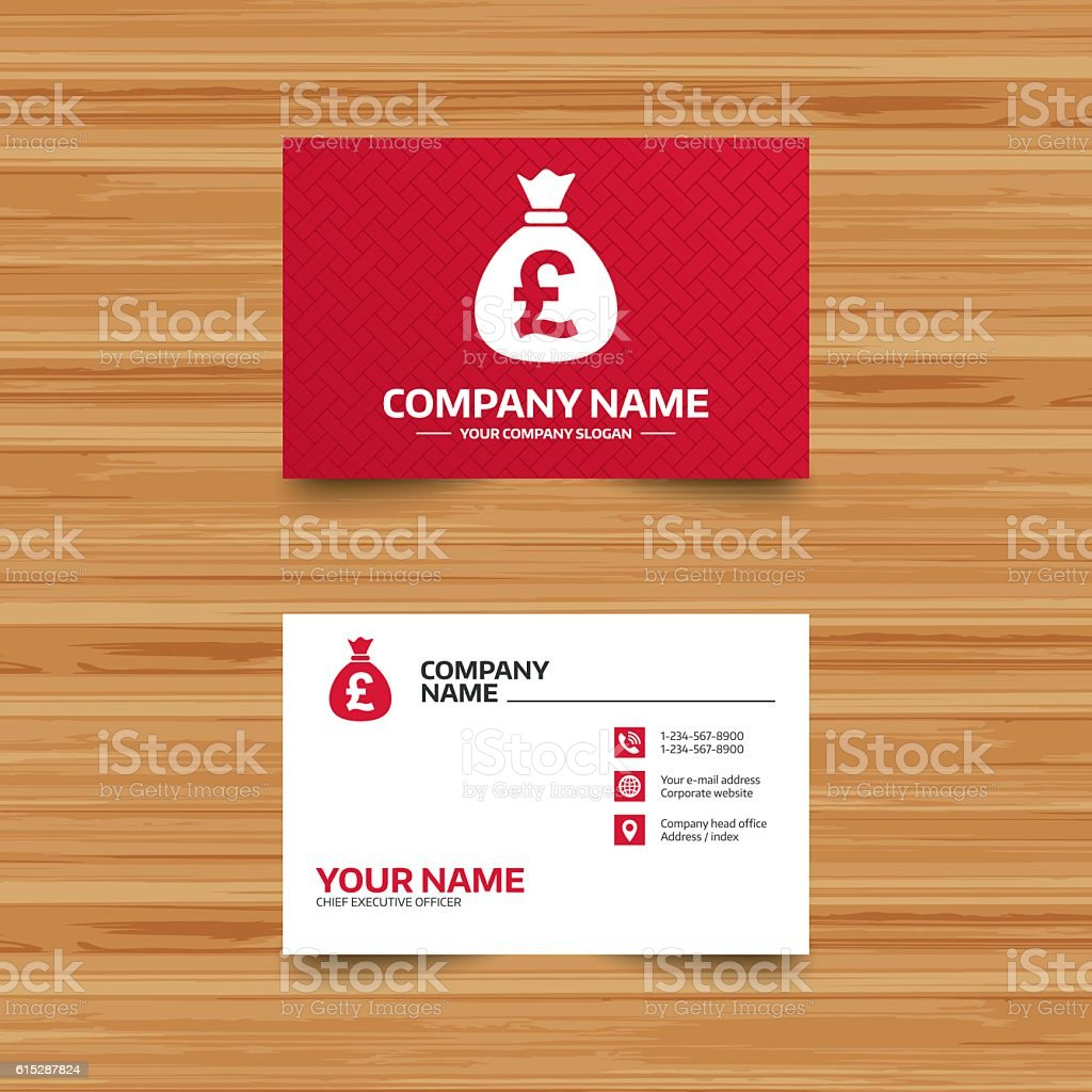 Money bag sign icon. Pound GBP currency. vector art illustration