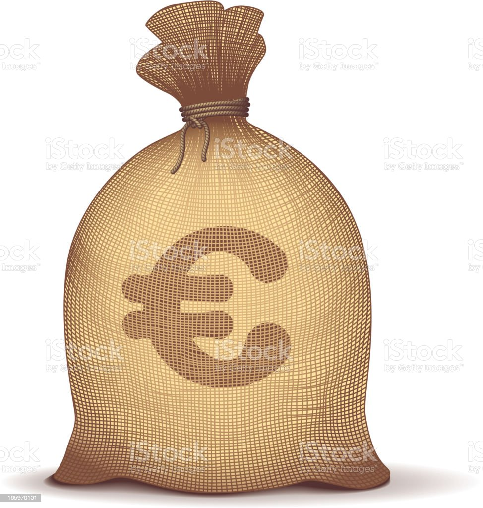 Money bag royalty-free stock vector art